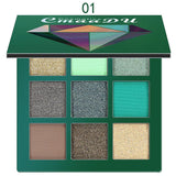 9 Color Glitter Matte Eye Shadow Palette Fonsany
