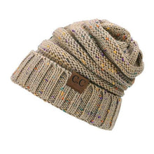 Load image into Gallery viewer, A Handmade Soft Knit Beanie myurbanluxe Confetti Light Camel