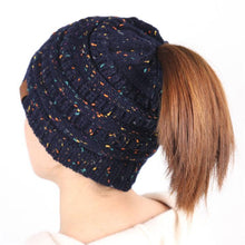 Load image into Gallery viewer, A Handmade Soft Knit Beanie myurbanluxe Confetti Navy Blue