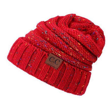Load image into Gallery viewer, A Handmade Soft Knit Beanie myurbanluxe Confetti Red