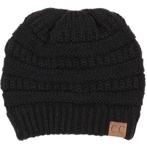 A Handmade Soft Knit Beanie myurbanluxe Solid Black