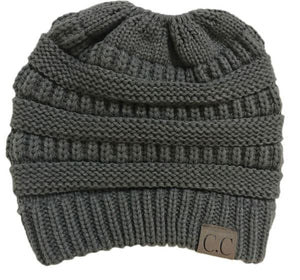 A Handmade Soft Knit Beanie myurbanluxe Solid Dark Grey