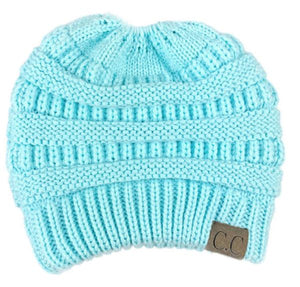 A Handmade Soft Knit Beanie myurbanluxe Solid Light Blue