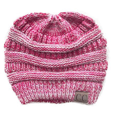 Load image into Gallery viewer, A Handmade Soft Knit Beanie myurbanluxe Solid Pink White