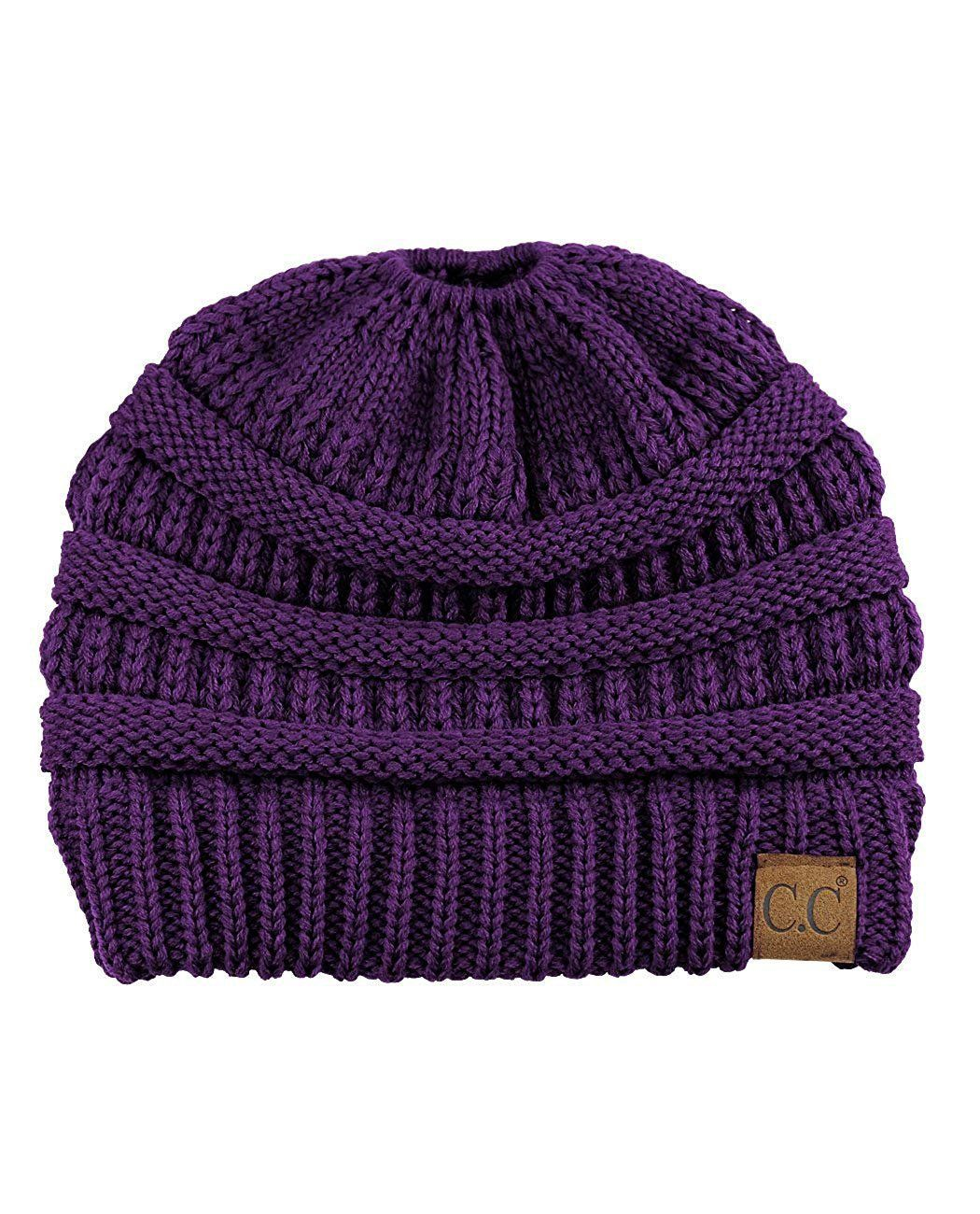 A Handmade Soft Knit Beanie myurbanluxe Solid Purple