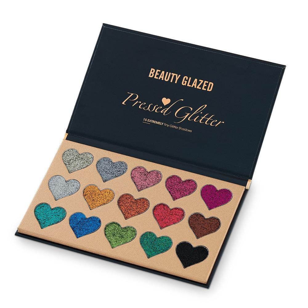 BG Pressed Water-proof Glitter Palette Fonsany 15 COLOR B