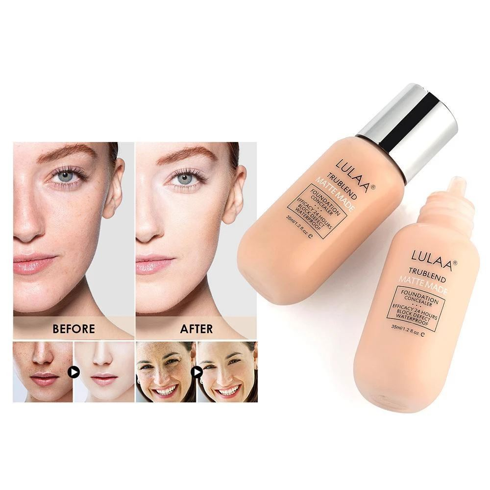 (Buy 1 Get 2)Matte Liquid Foundation( oil-free faces) Beauty Fonsany