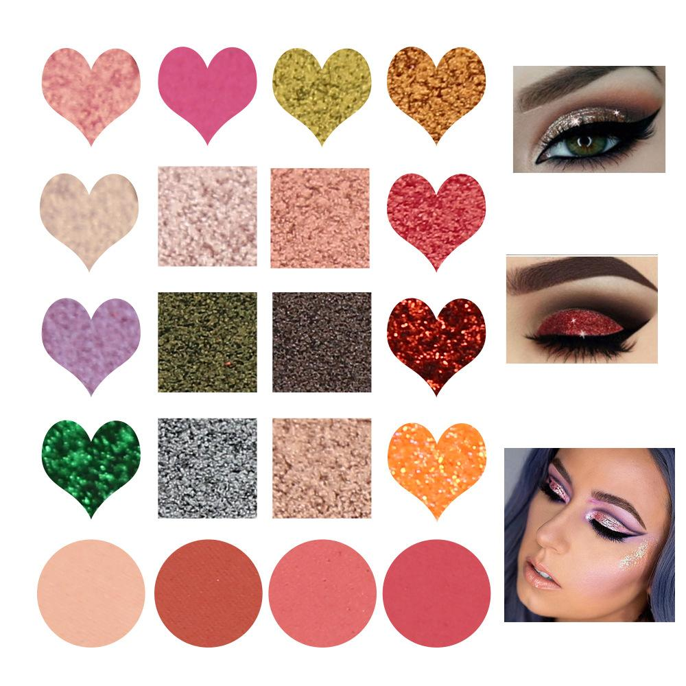 Couple Love Diamond Eyeshadow Palette Eye Shadow Fonsany