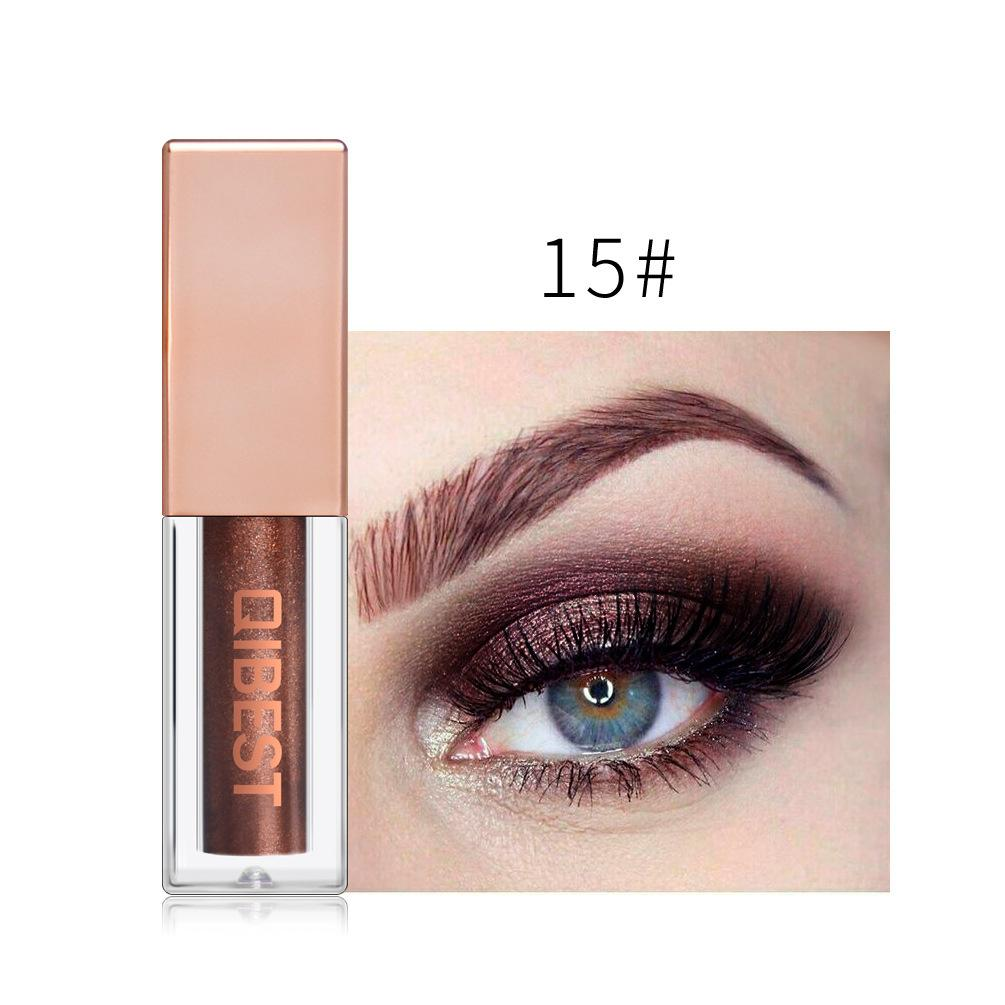 Diamond Pearl Liquid Eyeshadow/15 Colors Eye Shadow Fonsany 15#BRANCH