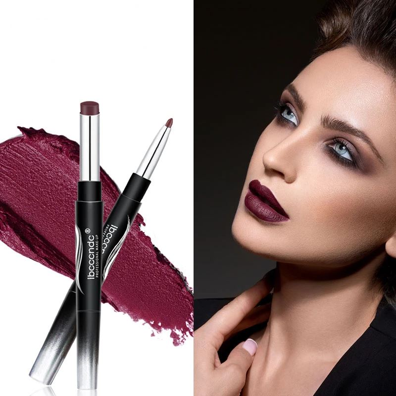 Double-end Matte lipstick Pen Lip Liner fonsany