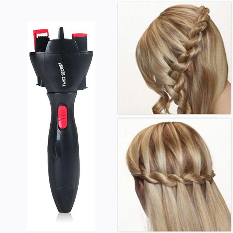 Fast Automatic Twist Braided Curling Hair Tool Fonsany