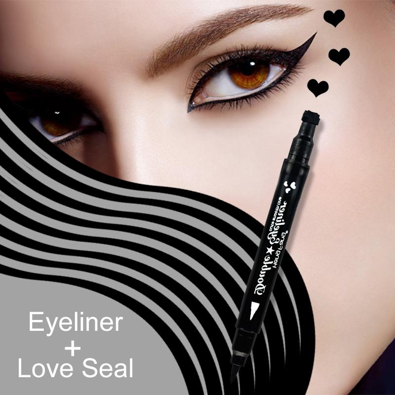 Heart/Star/Moon/Flower Tattoo Stamping Eye Liner Eyeliner Fonsany heart