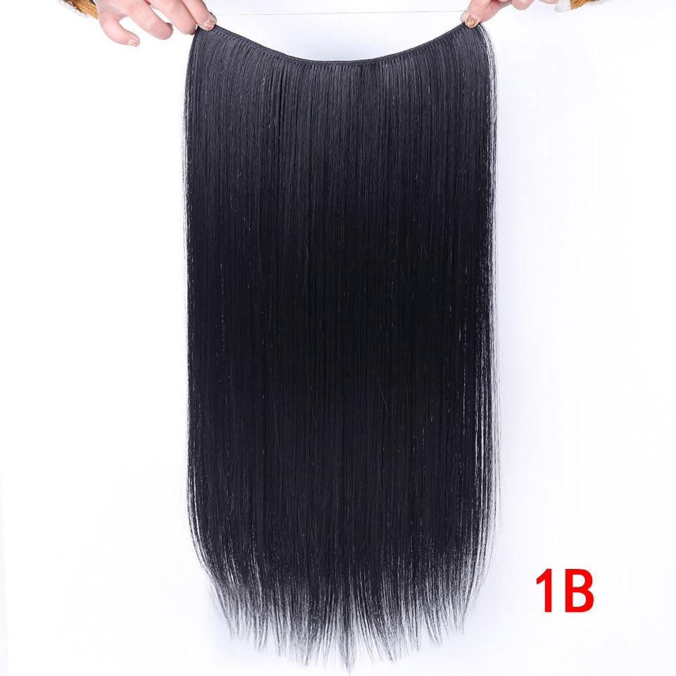Invisible Wire No Clips In Hair Extensions Secret Fonsany #2 24inches