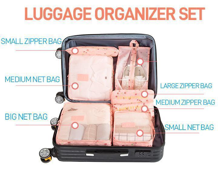Luggage Packing Organizer Set (6pcs) Fonsany