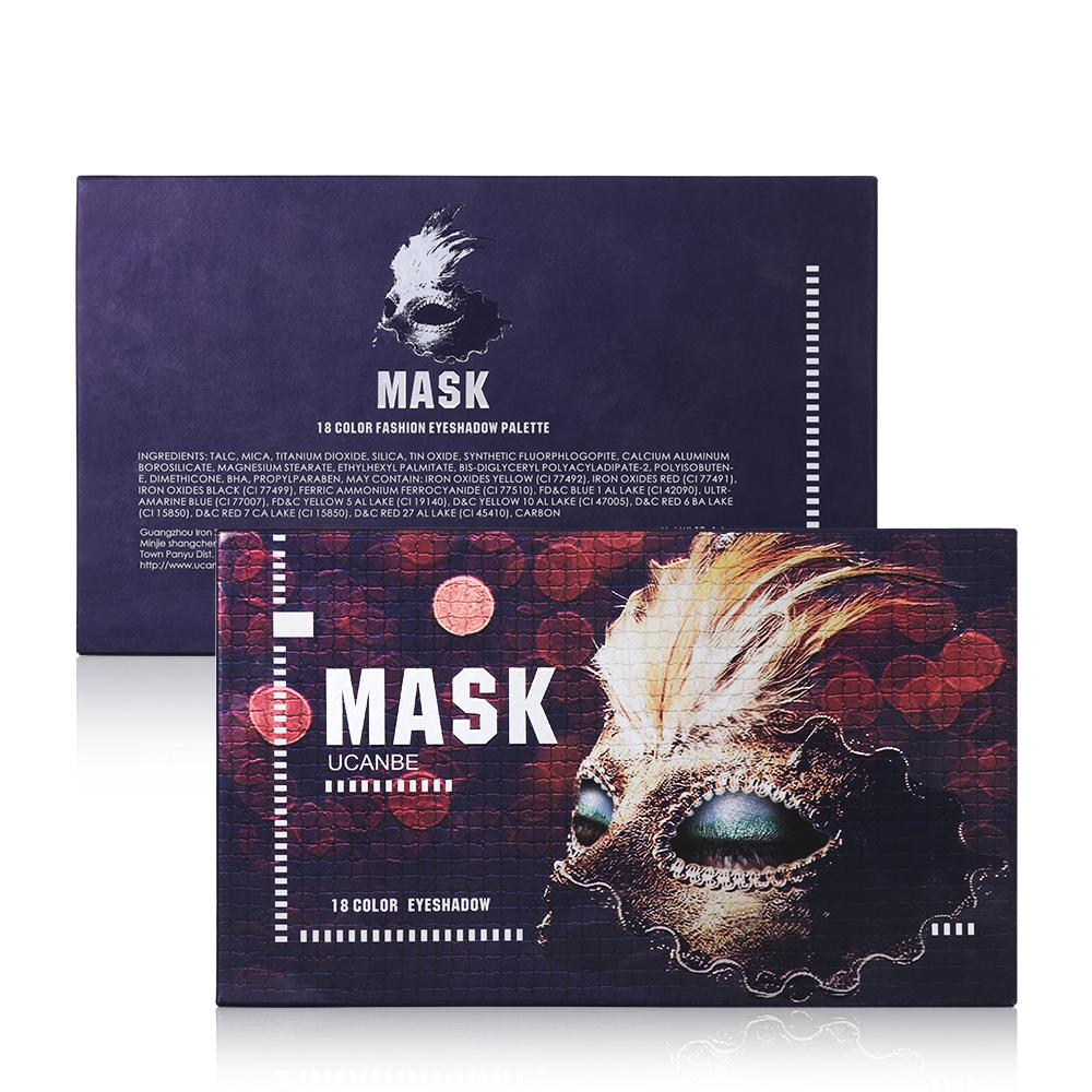 Mask Shimmer Matte Eyeshadow Makeup Palette 18 Colors Eye Shadow Fonsany