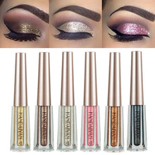 Load image into Gallery viewer, Metallic Diamond Shimmer Liquid Eyeshadow Fonsany