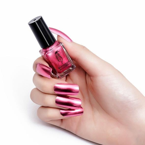 Mirror Nail Polish Fonsany ROSE PINK