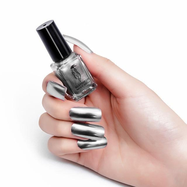Mirror Nail Polish Fonsany STEEL GRAY