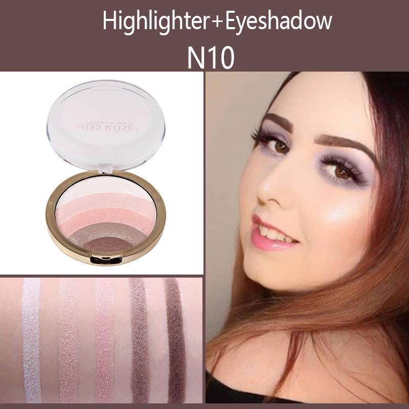 Multi-function Bronzer Rainbow Highlighter Palette Highlighter fonsany N10