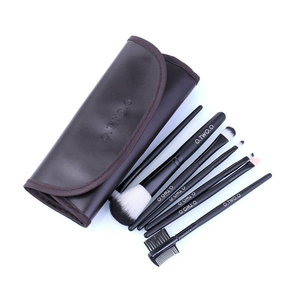 Multi-functional 7 Pieces Makeup Brush Set Makeup Brushes fonsany BROWN