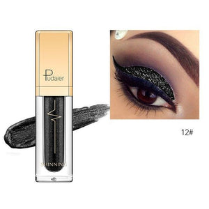 New Waterproof Shiny Liquid Eyeshadow Eye Shadow Fonsany 12