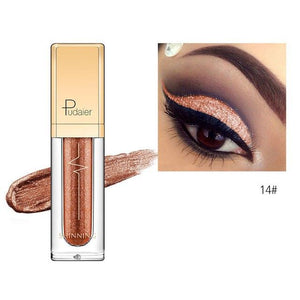 New Waterproof Shiny Liquid Eyeshadow Eye Shadow Fonsany 14