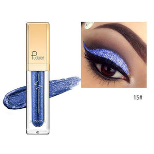 New Waterproof Shiny Liquid Eyeshadow Eye Shadow Fonsany 15
