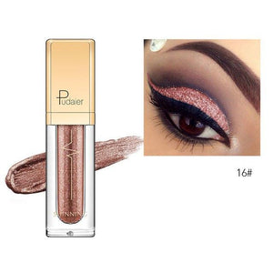 New Waterproof Shiny Liquid Eyeshadow Eye Shadow Fonsany 16