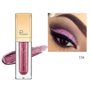 New Waterproof Shiny Liquid Eyeshadow Eye Shadow Fonsany 17