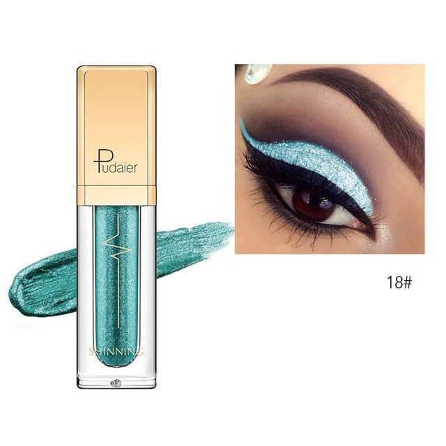 New Waterproof Shiny Liquid Eyeshadow Eye Shadow Fonsany 18