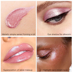 New Waterproof Shiny Liquid Eyeshadow Eye Shadow Fonsany