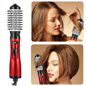 ONE-STEP 2 in 1 Ceramic Rotating Curling Iron Brush makeup wangmeimei
