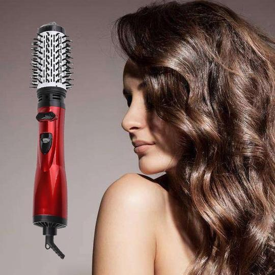 ONE-STEP 2 in 1 Ceramic Rotating Curling Iron Brush makeup wangmeimei US Plug