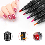 One-Step Easy Gel Nail Polish Pen Various Lush Colors Fonsany