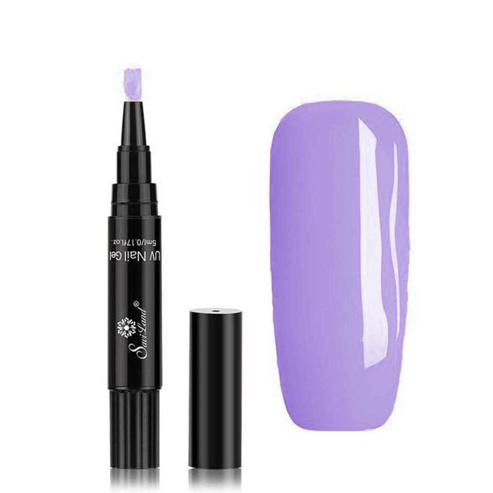 One-Step Easy Gel Nail Polish Pen Various Lush Colors Fonsany VIOLET