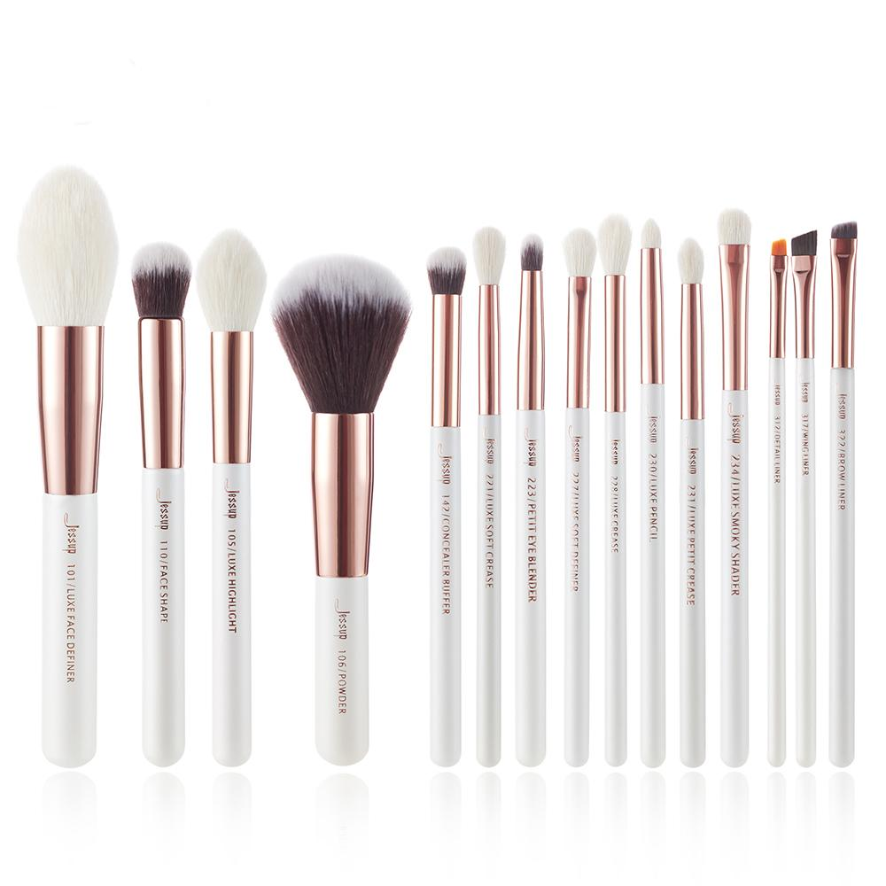Pearl White/Rose Gold Professional Makeup Brushes Set Makeup Brush fonsany