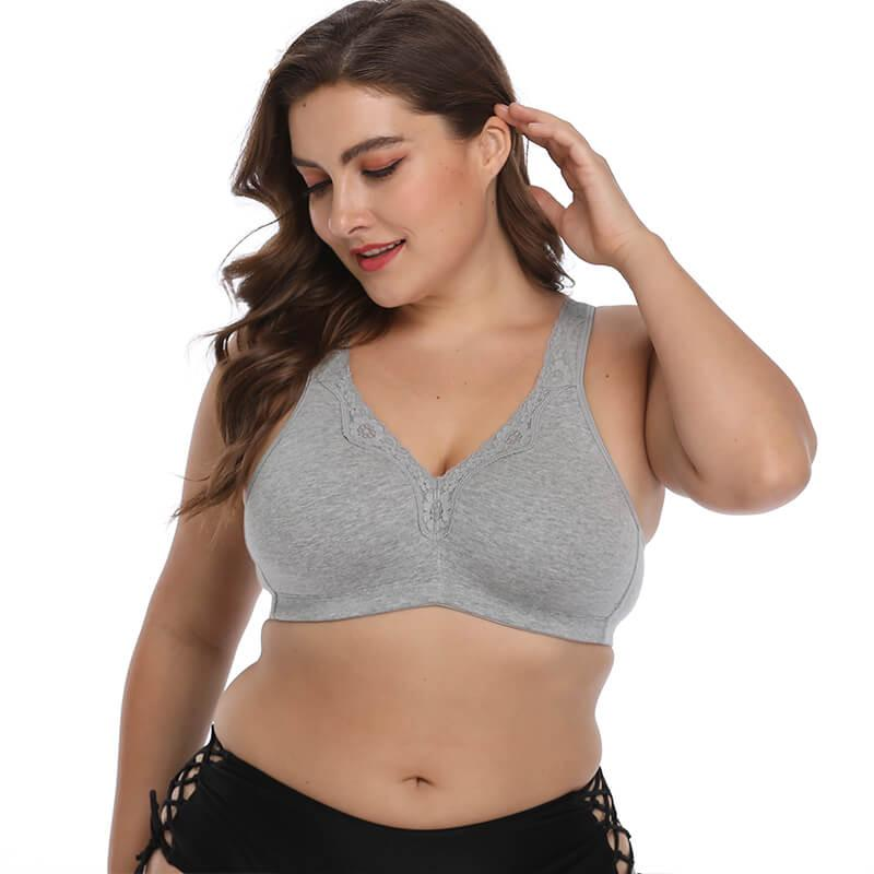 Plus Size Full Coverage Wirefree Bra Fonsany