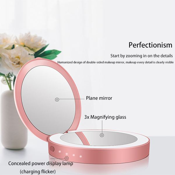 Portable Folding Led Charger Cosmetic Mirror with Lamp Beauty & Personal Care Fonsany