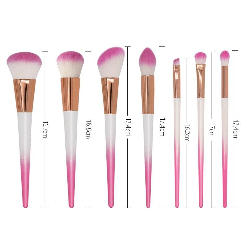 Powder Foundation Blending Eye Shadow Blush Makeup Brush Kits /7pcs Makeup Brushes Fonsany