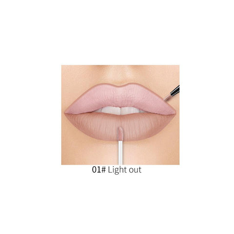Red Wine Shape 2 In 1 Double End Liquid Lipstick Lip gloss Fonsany 01