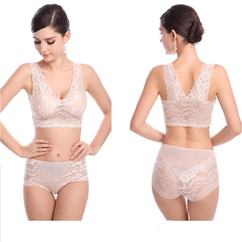 Sexy Beauty Back Lace Bra Set Dream Fiona Skin M