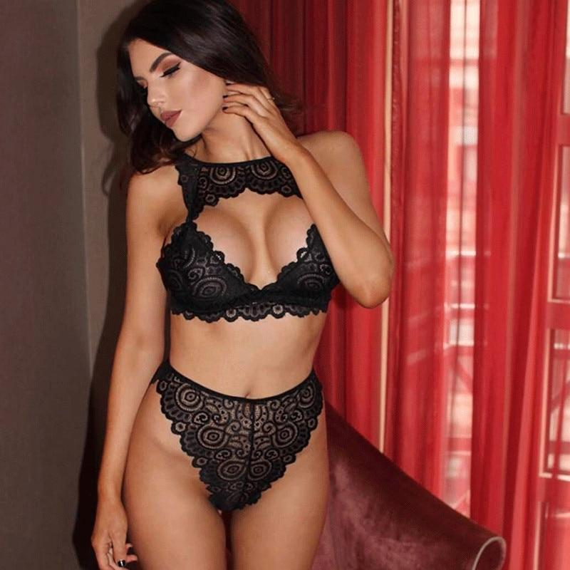 Sexy Women Bra Set Floral Lace Transparent Dream Fiona