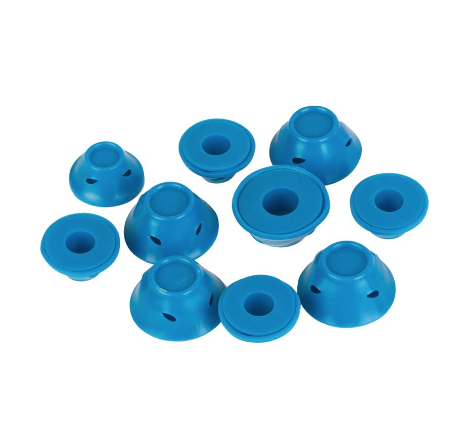 SILICONE HAIR CURLER Asteriss 10 PCS Blue
