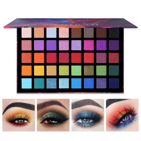 Spotlight 40 Color Colorful Artist Shimmer Eye Shadow Palette Fonsany 40 colors