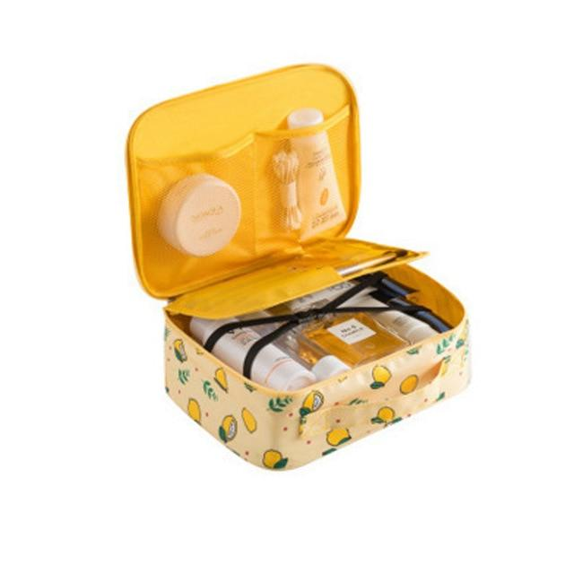 Travel Fashion Large Capacity Cosmetic Storage Bags Fonsany Style A Yellow lemon