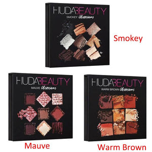 Warm Brown Smokey Mauve 9 Color Eyeshadow Pallete Fonsany
