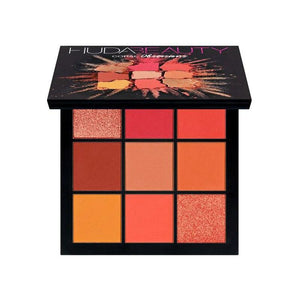 Warm Brown Smokey Mauve 9 Color Eyeshadow Pallete Fonsany HB01-CORAL