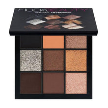 Load image into Gallery viewer, Warm Brown Smokey Mauve 9 Color Eyeshadow Pallete Fonsany HB01-SMOKEY