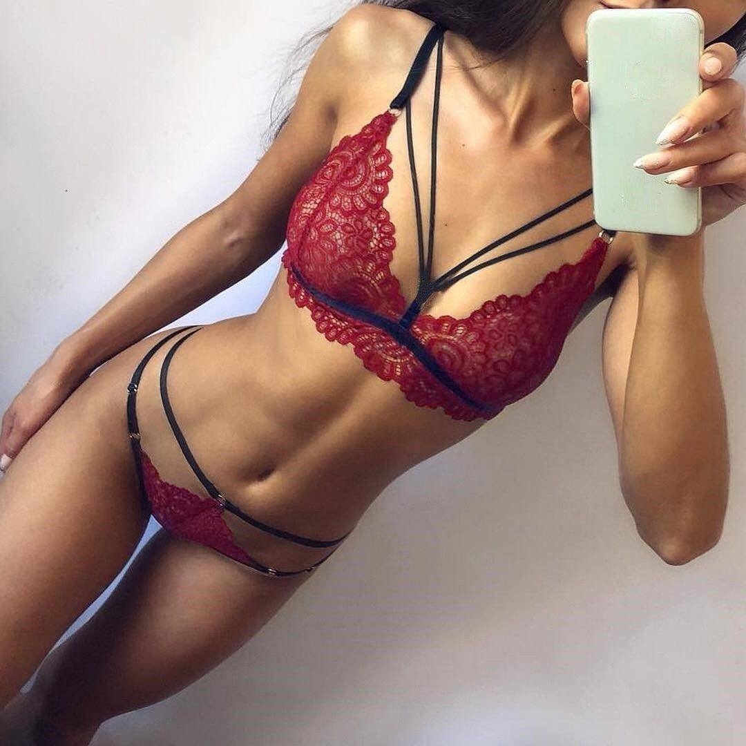 Women Sexy Lace Bra Set Bra Dream Fiona Wine S