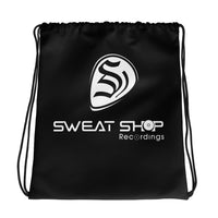 SSR Black Drawstring Bag - White Logo